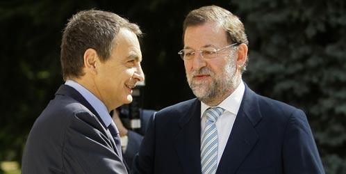 Rajoy y Zapatero en el fondo se quieren mucho.