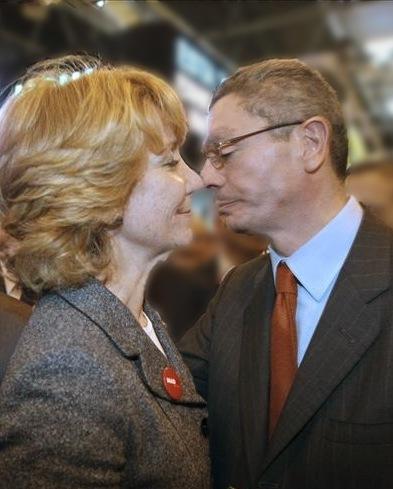 Aguirre y Gallardón haciendo política.