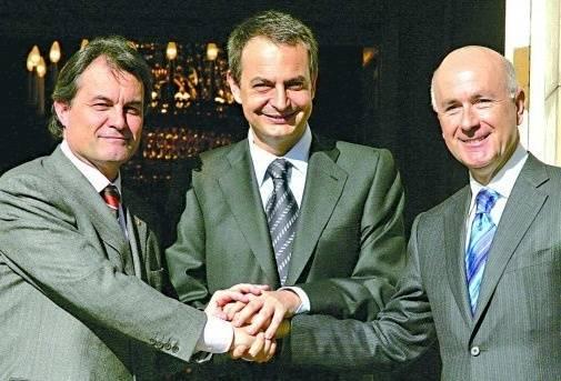 Foto de Artur Mas, Zapatero, Duran i Lleida