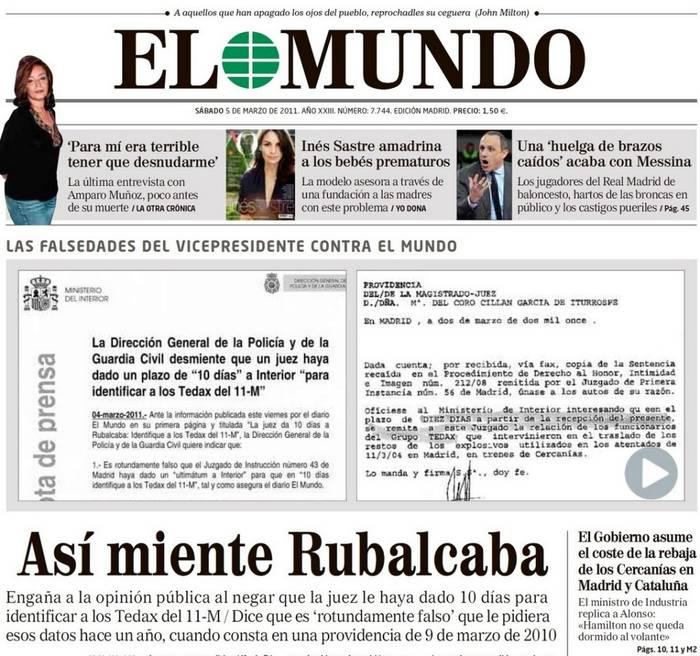 Así miente Rubalcaba