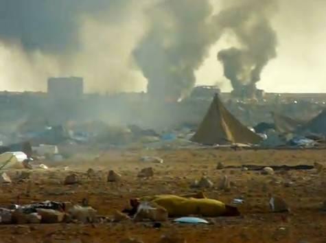 Militares y la policía marroquí arrasa el campamento saharaui.