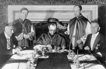 Concordato del Vaticano con Hitler.