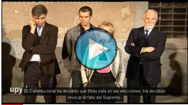 Vídeo de la declaración de UPyD sobre la legalización de Bildu.