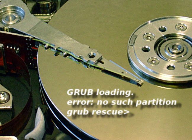 GRUB loading. error: no such partition grub rescue>
