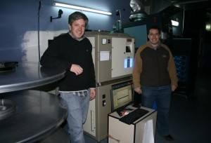Cabina de proyección de una sala de Cine Digital 3D.