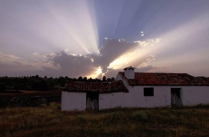 Puesta de sol en el Prado Cañete.