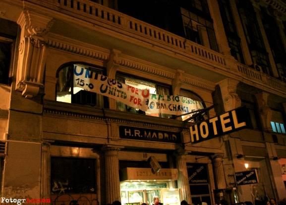 """Okupación del """"Hotel Madrid"""""""