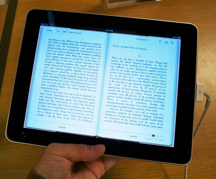 IPad eBook reader