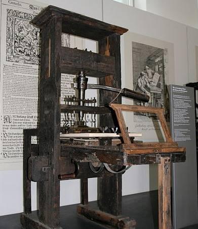 Prensa de imprimir de 1811