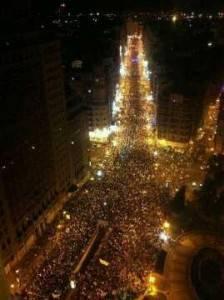 Manifestación de mineros en Madrid