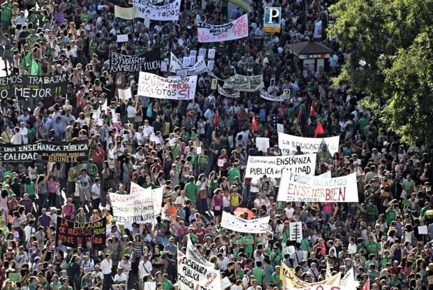 Manifestación Madrid recortes en educación
