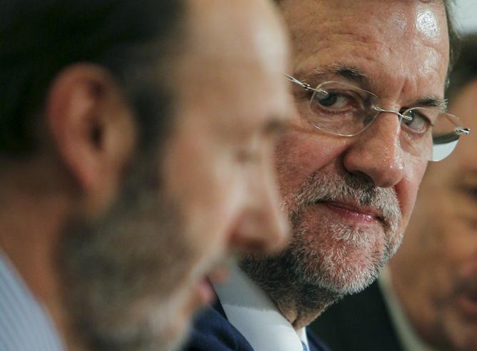 Mariano Rajoy, Alfredo Perez Rubalcaba
