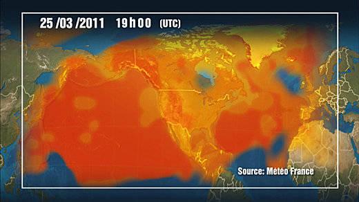 Modelización de la nube radiactiva de Fukushima