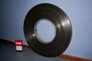 Presente (un HD) y futuro (una bobina de 35mm)