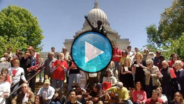 'No nos moverán' - Cantantes de la solidaridad 27 de Mayo 2011 - Madison, Wisconsin