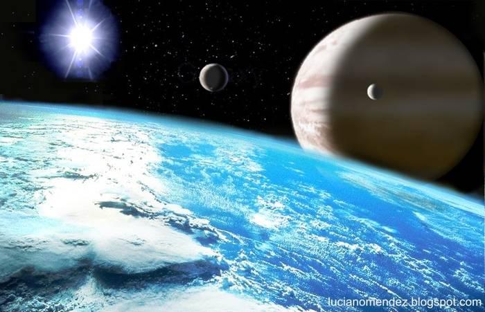 Planeta extrasolar y satélite similar a La Tierra.