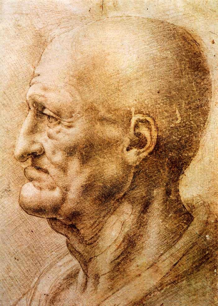 Retrato de un anciano de Leonardo da Vinci.