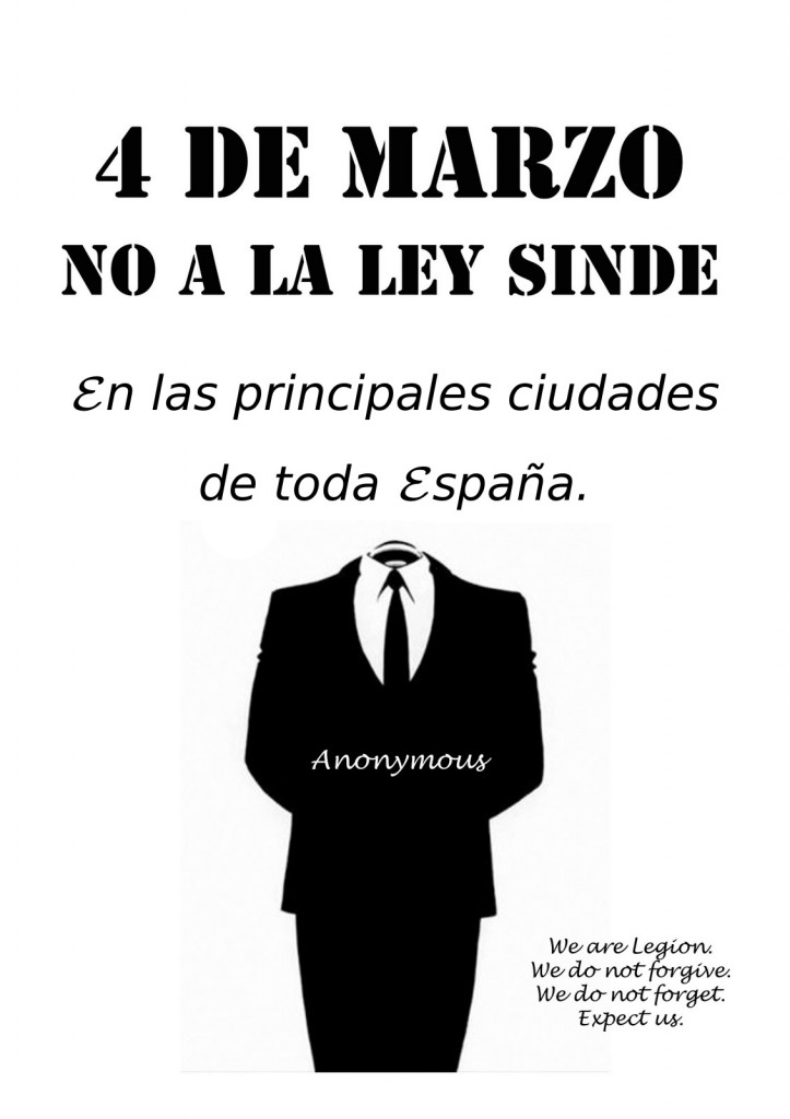 4 de Marzo. No a la ley Sinde.