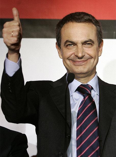 Alegría de Zapatero.