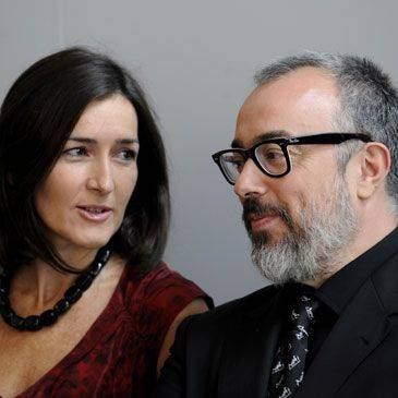 Alex de la Iglesia con Ángeles González Sinde.