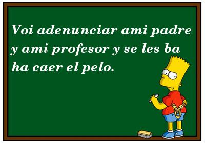 Bart Simpson castigado en España.