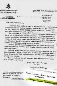 Carta de Ratzinge