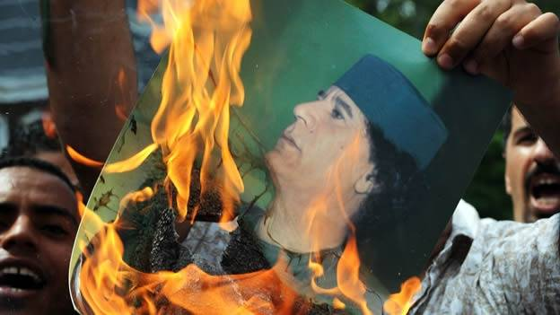 Manifestaciones en Libia.