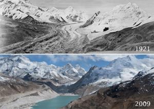 Glaciar en el Everest