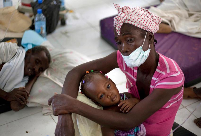 Brote de Cólera en Haití.