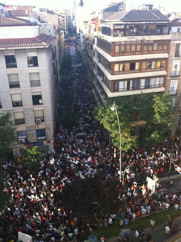 Gran éxito de la manifestación laica desde sus comienzos.