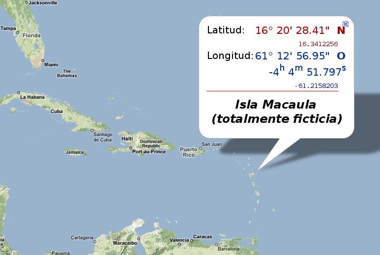 Localización de la isla Macaula.