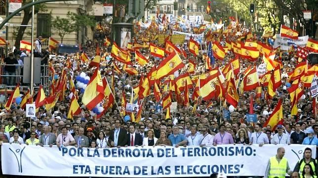 Manifestación preventiva ante la sospecha de la jugada del PSOE.