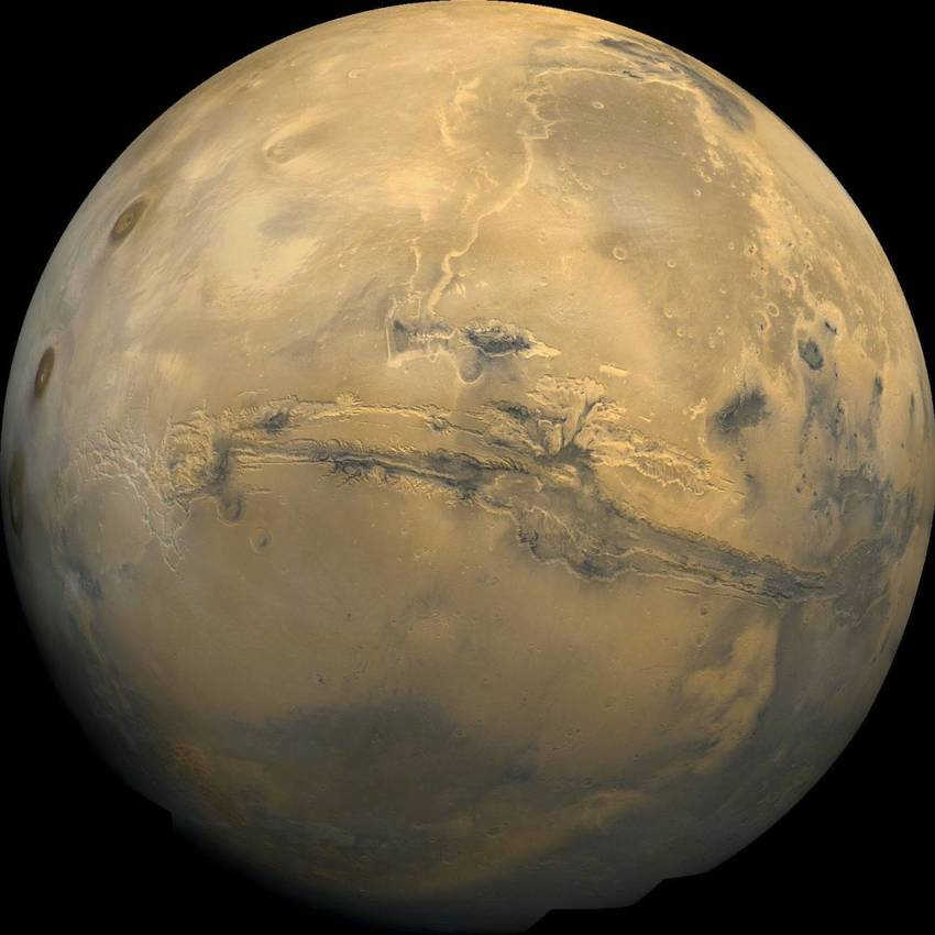 Marte - Valles marineris (Wikimedia)