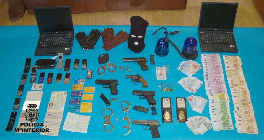 Imagen de un registro policial