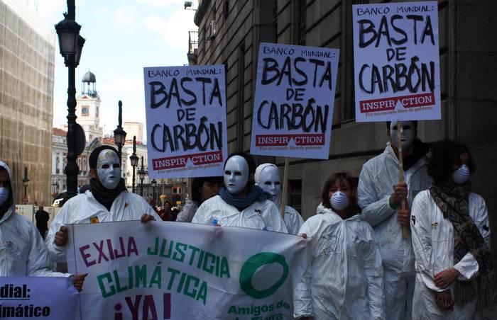 Protesta contra el Banco Mundial.