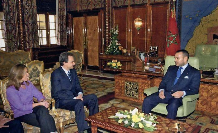 Reunión de Zapatero con Mohamed VI en 2001