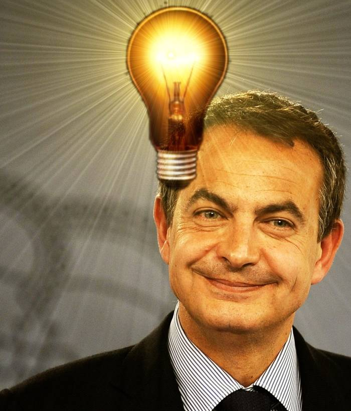 Zapatero y sus brillantes ideas.